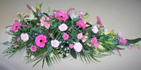 Soft Pink Casket Tribute